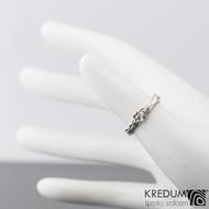 Gordik flower - Motaný snubní prsten nerezový, velikost 46,5