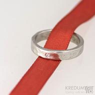 Prsten kovaný nerezová ocel Draill a čirý diamant 1,5 mm