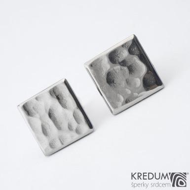 Quatro dent  17,3 x 17,3 mm - Manžetové knoflíčky se stříbrným zapínáním, SK1475 (3)