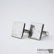 Quatro dent  17,3 x 17,3 mm - Manžetové knoflíčky se stříbrným zapínáním, SK1475