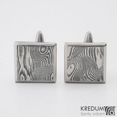 Quatro - Kované manžetové knoflíčky damasteel, SK1252