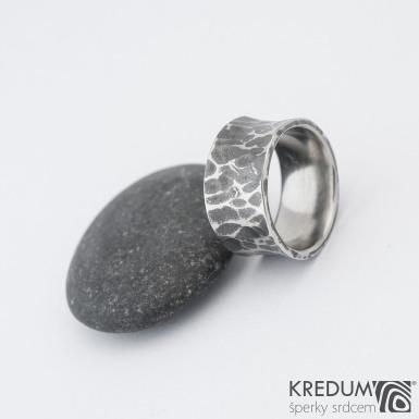Rafael - Kovaný nerezový snubní prsten, SK1168