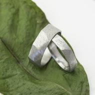 Random hrubý mat -  51 CF, šířka 4 mm a 56, šířka 6,2 mm - Broušené a kované snubní prsteny