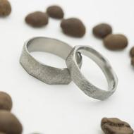 Random hrubý mat -  51 CF, šířka 4 mm a 56, šířka 6,2 mm - Broušené a kované snubní prsteny (9)