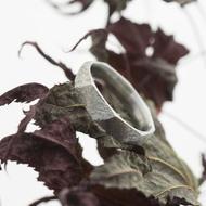 Random hrubý mat - velikost 51, šířka 4 mm, tloušťka střední vnitřní zaoblení - Broušený snubní prsten, nerezová ocel