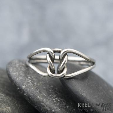 Reverse Silver Patina - Stříbrný prsten, SK1576