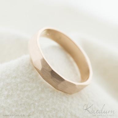 Rock Gold red - zlatý snubní prsten