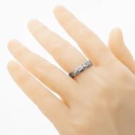 Rocksteel - damasteel prsten voda - vel 63 šířka 5,5 mm lept 75 tmavý