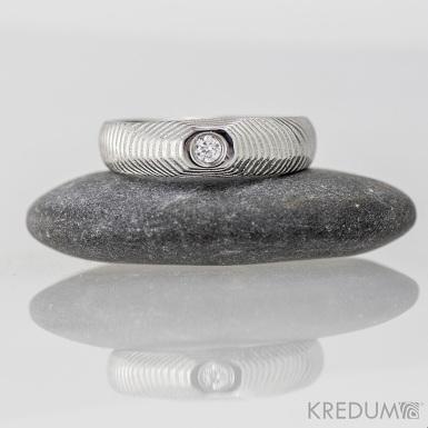 Prsten damasteel a diamant - miniAlane+++ - produkt číslo 1370