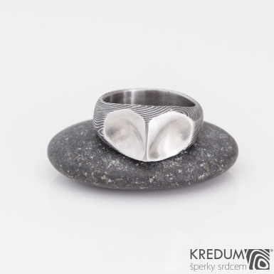 SOVA - Kovaný snubní prsten damasteel - velikost 52, produkt č. 2161