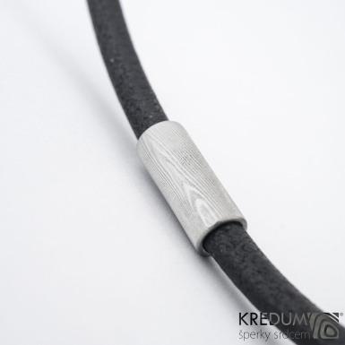 Samuel s damasteel korálkem - Kožený náhrdelník, SK1478 (3)