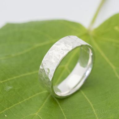 Silver Draill lesklý - Stříbrný snubní prsten, produkt SK2882