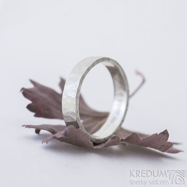 Silver Draill matný - Stříbrný snubní prsten, produkt SK2350