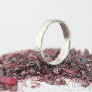 Silverd draill - velikost 54, šířka 4 mm, lesklý, lehké vnitřní zaoblení - Stříbrný zásnubní prsten - k 1704 (3)