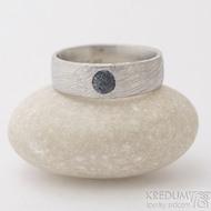 Siona a přírodní safír - velikost 60, šířk a7 mm, voda 75% SV, profil E - Damasteel snubní nebo zásnubní prsten