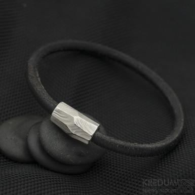 Damasteel korálek - Samuel náramek černý - SK3241