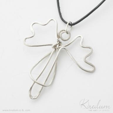 Anděl - stříbrný přívěsek - SK4363
