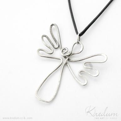 Anděl - stříbrný přívěsek - SK4364
