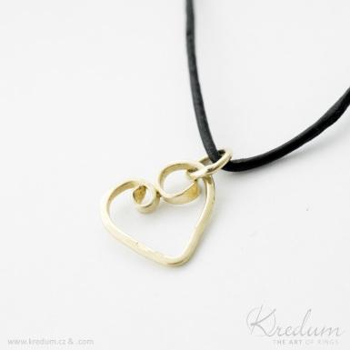 Srdíčko - zlatý přívěsek - SK4379