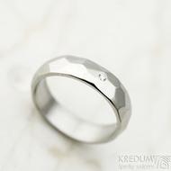 Skalák a čirý diamant 1,5 mm - velikost 51, šířka 5 mm, lesklý - Nerezové snubní prsteny - k 1443 (5)