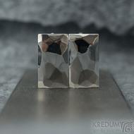Skalák - lesklé - Kované nerezové manžetové knoflíky