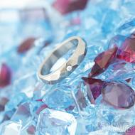 Skalák titan a diamant 1,7 mm lesklý - velikost 53,5 šířka 4 mm a velikost 59, šířka 5 mm - Titanové snubní prsteny - k 1468 (4)