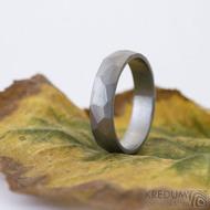 Skalák titan matný - 61, šířka 5 mm, tloušťka slabá - Titanový snubní prsten - k 2498 (3)
