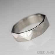 Snake - Nerezové snubní prsteny - velikost 52, šířka 5, tloušťka 1,5, matný - S1904