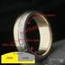 Prsten v kombinaci zlata a damasteelu, popis rozměrů
