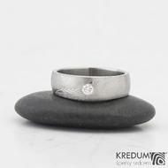 Snubní prsteny damasteel Siona 2,7mm  53 5,5mm 75SV leštěné boky k 0919 (3)