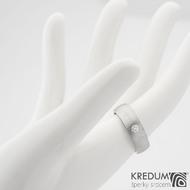 Snubní prsteny damasteel Siona 2,7mm  53 5,5mm 75SV leštěné boky k 0919 (5)