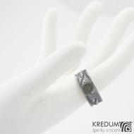 Snubní prsteny damasteel Víla vod - vltavín, 57 8 mm 75TM k 0919 (6)