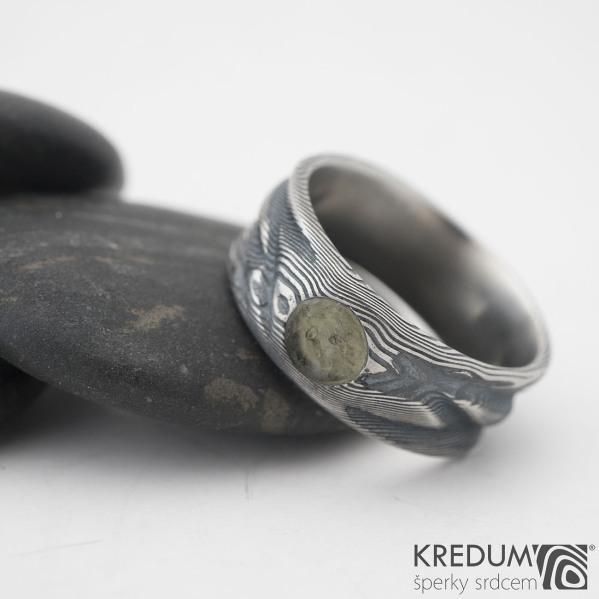 Snubní prsteny damasteel Víla vod - vltavín, 57 8 mm 75TM k 0919 (9)