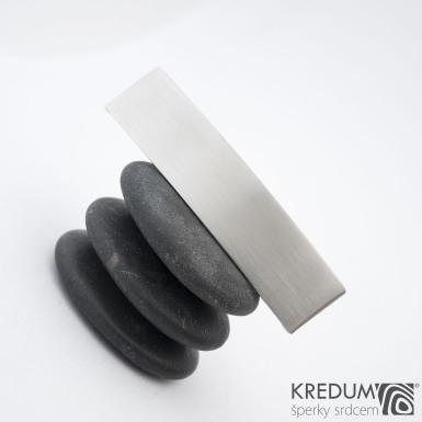 KinderLinka klasik matná - základ 5 cm, šíře 1,2 cm - Nerezová spona do vlasů