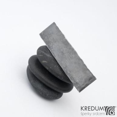 KinderLinka draill tmavá - základ 5 cm, šíře 1,2 cm - Nerezová spona do vlasů