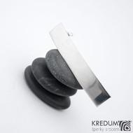 Linka klasik lesklá - základ 5 cm, šíře 9 mm - Nerezová spona do vlasů