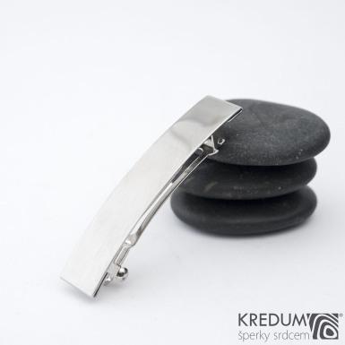 KinderLinka klasik lesklá - základ 5 cm, šíře 9 mm - Nerezová spona do vlasů