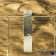 Tepaná nerezová spona do vlasů - Linka matná, základ 8 cm, šířka 19 mm