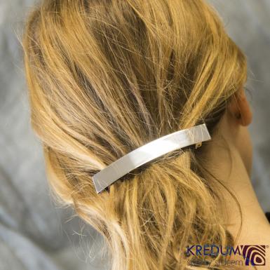 Linka klasik matná - základ 10 cm, šíře 1,6 cm - Nerezová spona do vlasů