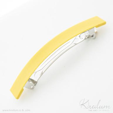 Linka PLA - základ 8 cm - zlatá spona do vlasů