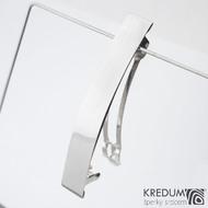 Linka klasik lesklá - základ 8 cm, šíře 1,2 cm - Nerezová spona do vlasů
