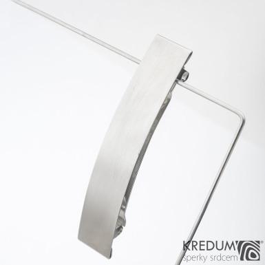 Linka klasik matná - základ 8 cm, šíře 1,6 cm - Nerezová spona do vlasů