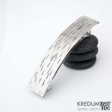 Linka Betula - základ 8 cm, šíře 1,9 cm - Nerezová spona do vlasů