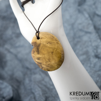 Topolový medailon - Přívěsek ze dřeva, SK1539