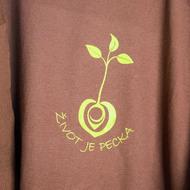 Tričko hnědé a zelené logo