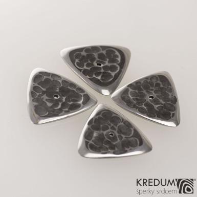 Trsátko ocel nerez kov - Trio - přední (lícová) strana