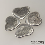 Trsátko ocel nerez kov - Heart - srdce - zadní strana