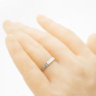 Wood světlý - Kovaný nerezový snubní prsten, velikost 54, šířka cca 3,3 mm - produkt SK3082 - na umělé ruce