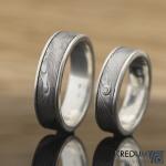snubní prsteny Luna damasteel stříbro moissanit k 0131 (7)