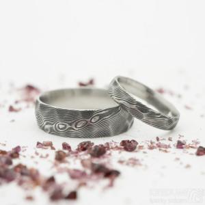 prsten Rock - broušené plošky